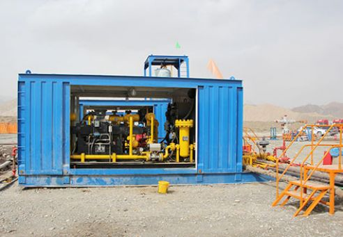 Gas Field surface test units in Xinjiang Oilefield