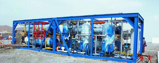 Natural gas recovery equipment